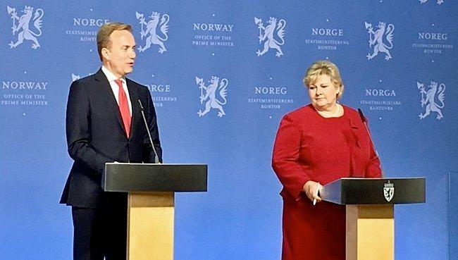 Erna Solberg redder en leiesoldat og feirer det på nasjonaldagen