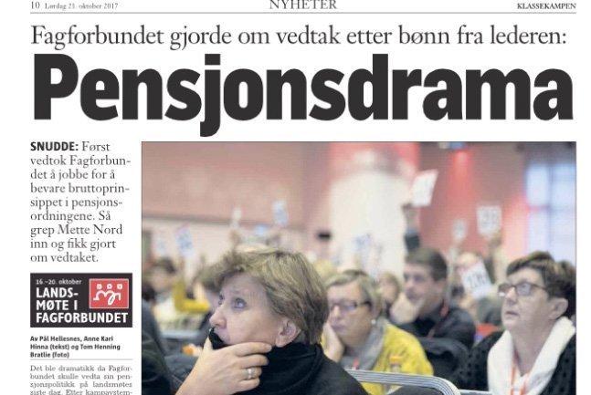Pensjoner: Ap-ledet LO: Gir opp krav før forhandlingene starter
