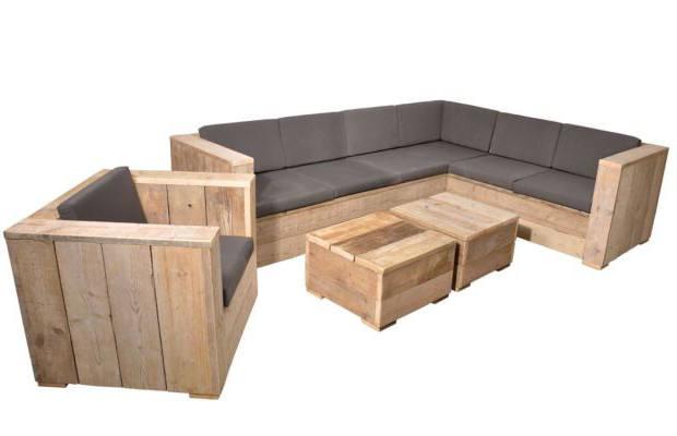 Lounge tuinset van steigerhout bouwtekeningen tuinmeubels