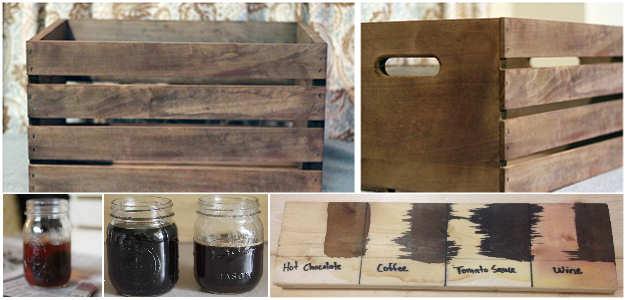 Huismiddelen voor het kleuren van nieuw hout