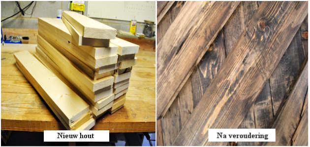 Verouderingsmethodes manieren om hout te verouderen