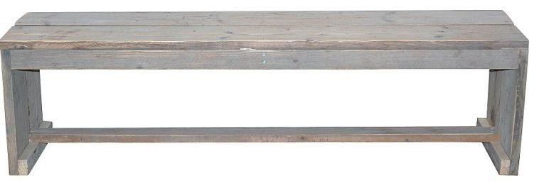 Tuinbankje om zelf te maken van steigerhout bouwtekening