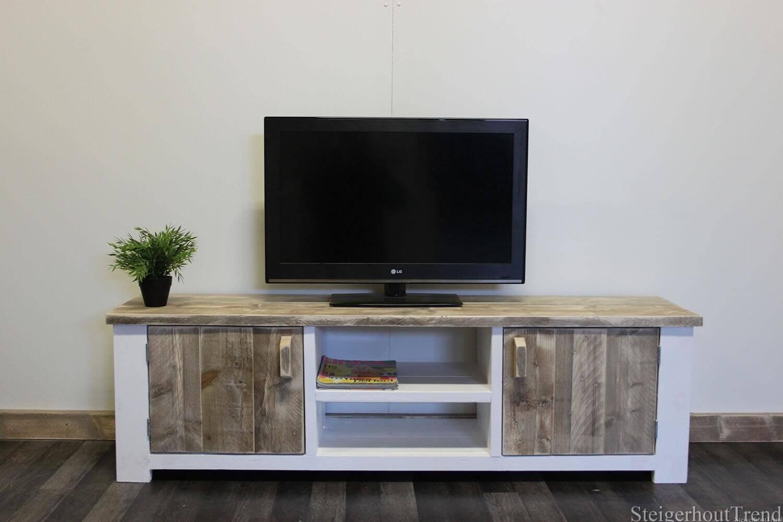 Steigerhouten TV meubel Cheney in landelijke stijl 20