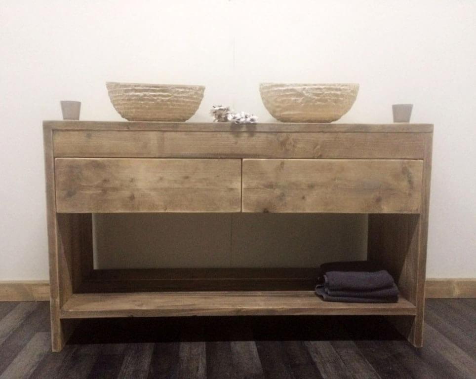 Steigerhouten badkamer meubel Fallon  SteigerhoutTrend