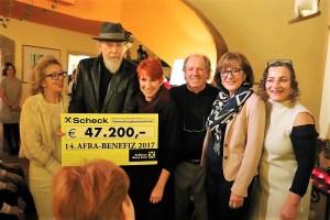 Rekordspende zugunsten der Frauenhäuser - von links: Annaliese Stecher, Franz Mölk, Dr. Margret Aull, Günther Stecher, BR Anneliese Junker, Mag. Gabi Plattner. Foto: Knut Kuckel