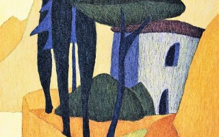 "17. Afra-Benefiz-Lithographie ""Porto San Nicolo"" der Tiroler Künstlerin Veronika Gerber"
