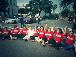 Women arrested in DC protesting for comprehensive immigration reform
