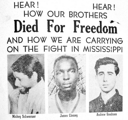 hree civil rights workers who were killed during Freedom Summer in Mississippi.