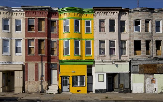 Row homes (Credit: Tom Clark Blogspot)