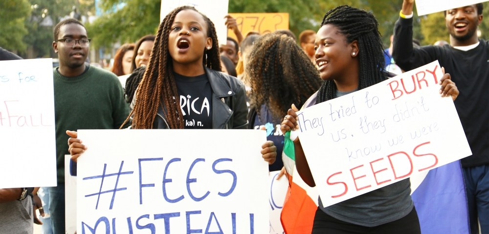 #feesmustfall Movement in South Africa (Photo by Jesús Hidalgo   The Chronicle)