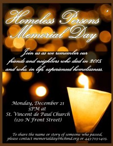 Homeless Memorial Day (Credit: Facebook Page For Event)