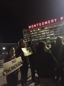 Incinerator Protest (Credit: Nicole King)