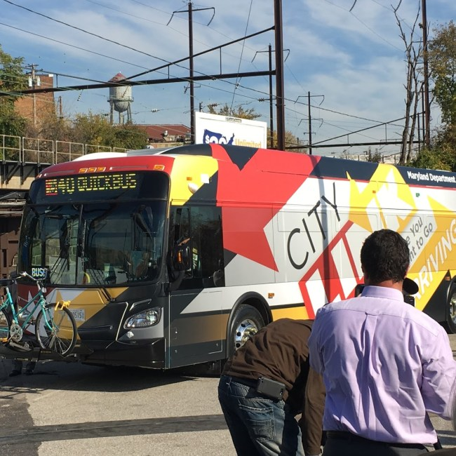 Baltimore CityLink Bus (Credit: Community Architect Daily)