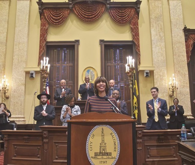 Mayor Pugh (Credit: Baltimore City Gov)