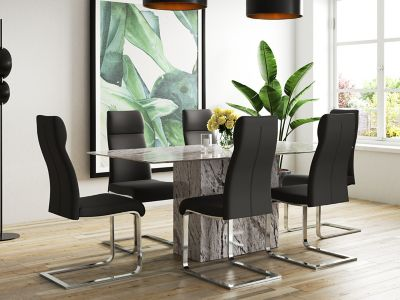 dining table in living room pictures tiles design furniture up to half price sale harveys novara 6 chairs
