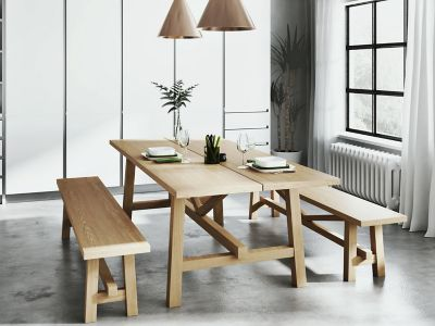 kitchen table with bench and chairs designer dining room furniture up to half price sale harveys burwell 2 large benches