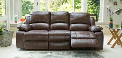 harveys 3 seater recliner sofa baxton studio abriana 2 piece dark brown leather sectional sofas armchairs and suites ebay ...