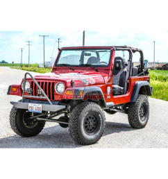 jeep wrangler tj tricked out package 1997 2006 4 inch lift long travel kit included manual transmission [ 1000 x 1000 Pixel ]