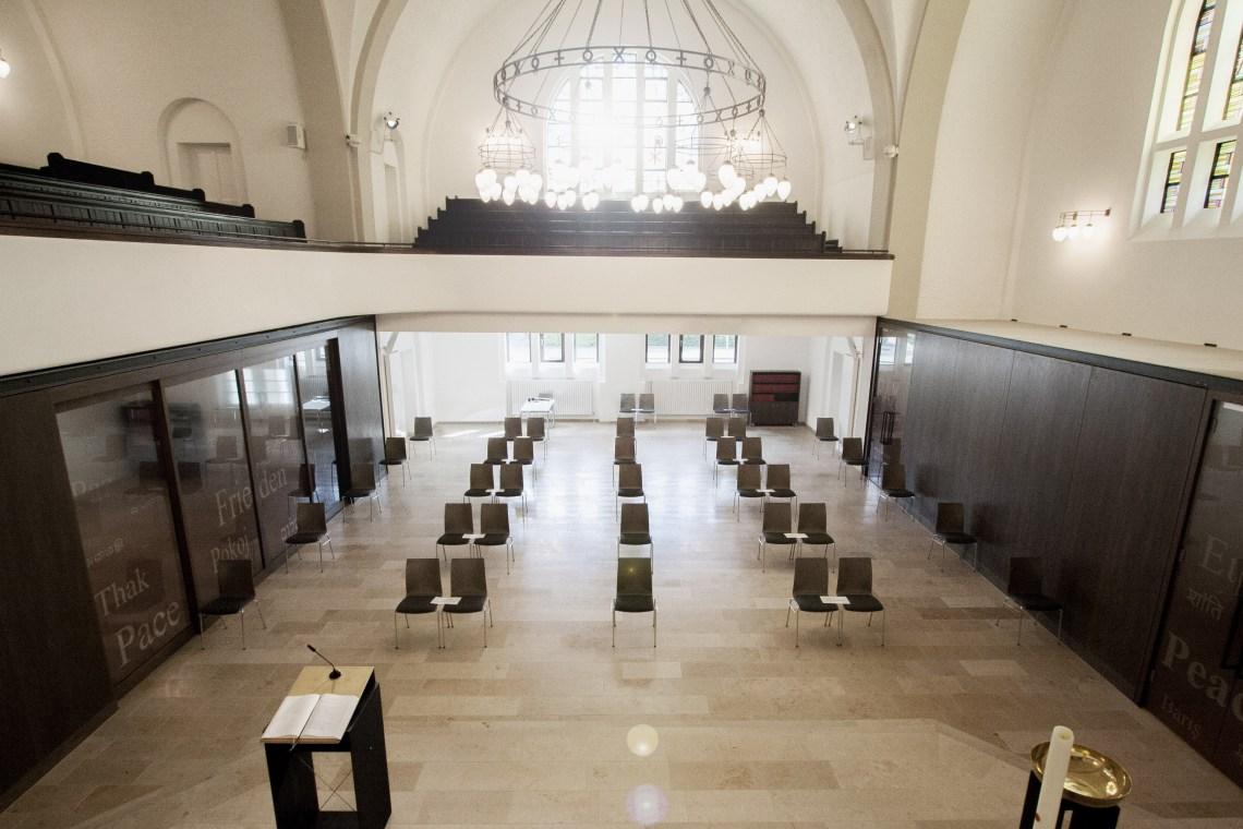 Kircheninnenraum zur Empore_Pauluskirche