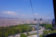 This is taken from inside the cable car (gondola).