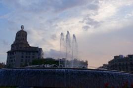 Fountain at Plaça de Catalunya