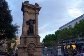Statue at Plaça de Catalunya