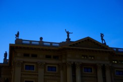 Rooftop statues