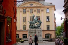 Statue in Gamla Stan (Old Town)