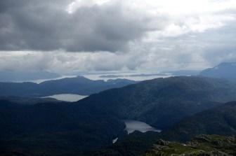 View towards Hardangerfjorden and Stord from Brurasåta.