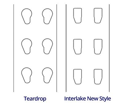 teardrop vs new style pallet racks