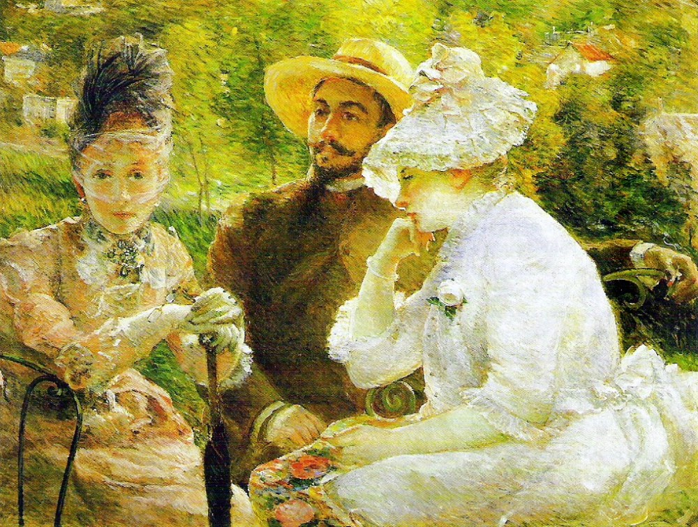 Marie Bracquemond - On the Terrace at Sèvres, 1880