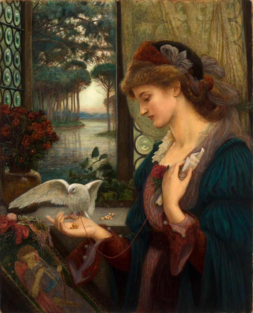 Marie Spartali Stillman - Loves Messenger, 1885