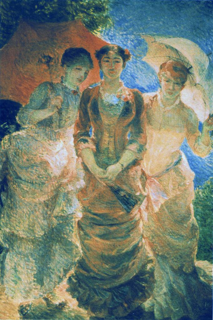 Marie Bracquemond - Three Ladies with Parasol, 1880