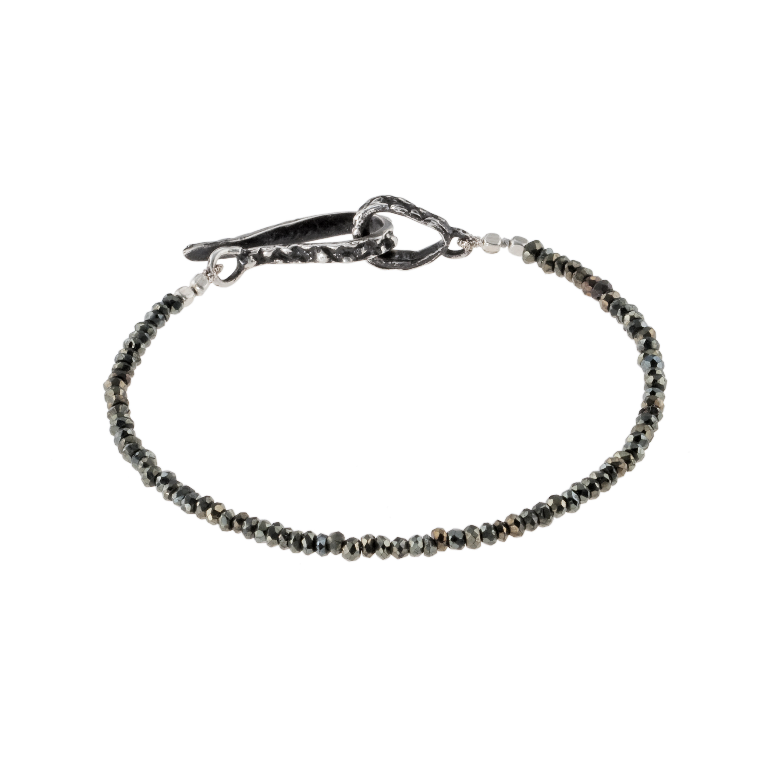 Lauren Wolf: Single Strand Black Spinel Bracelet