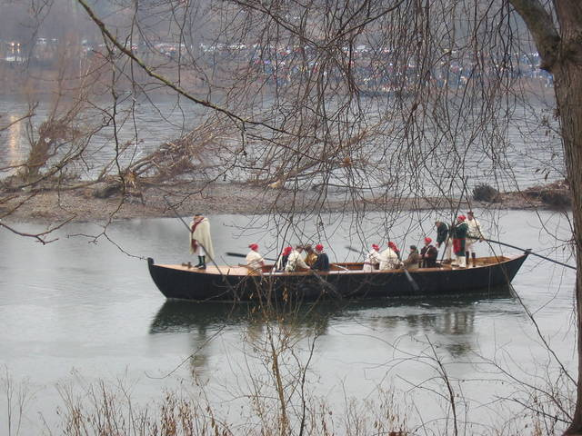 Durham Boat used during a recreation of Washington crossing the Delaware