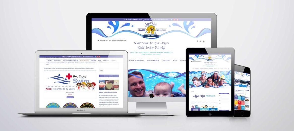 Branding & Web Design - Aqua Kids Swim School - Branding + Website Design/Development