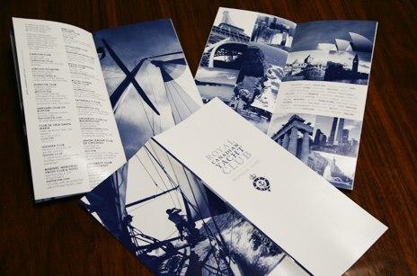 Royal Canadian Yacht Club Booklet Brochure
