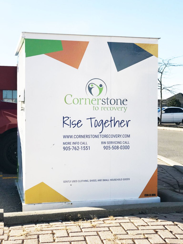 Cornerstone Donation Bin Design Nonprofit