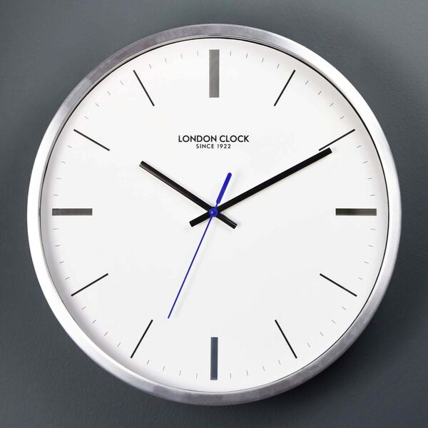 Wall clock, Round Sliver clock, kitchen clock, clock without numbers, engagment presents, wedding presents