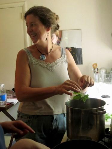 Sarah cooking