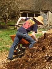 Moving woodchips