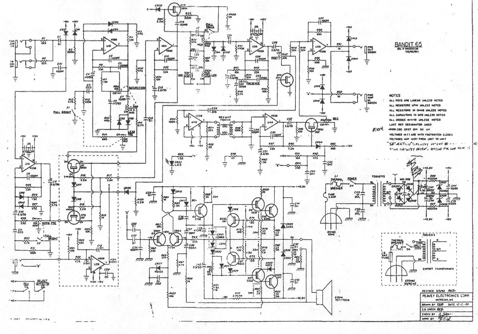 hight resolution of new page 1998 peavey blazer 158 schematic peavey bandit