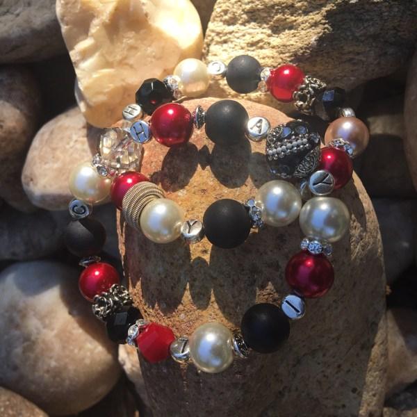 2 Bracelet Set Red