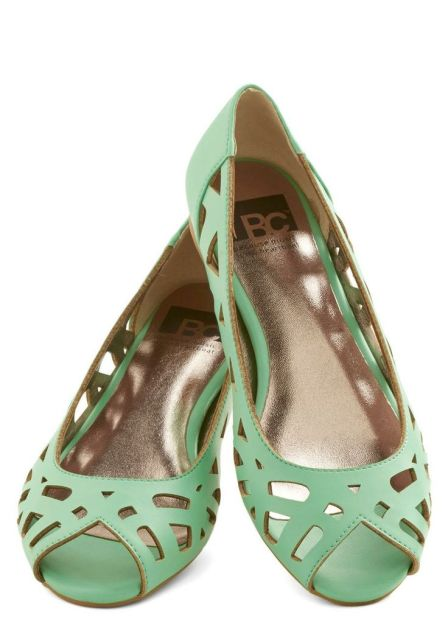 Discover Your Pastel Flat in mint by Modcloth, $59.99