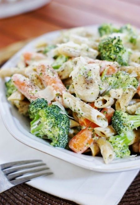 Chicken Penne Alfredo from The Kitchen Is My Playground/eMeals