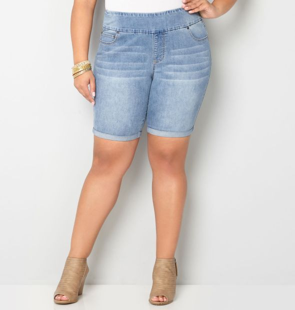 Avenue pull-on shorts with tummy control, $24.50