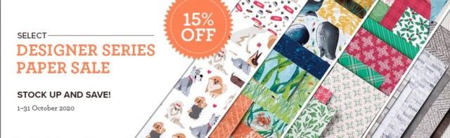 Stampin' Up! Designer Series Paper Sale – 15% off!