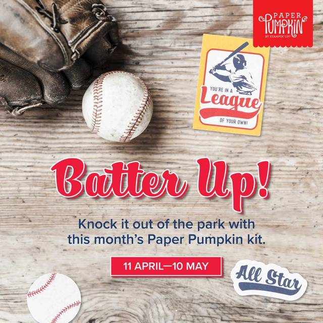 Batter Up! with Stampin' Up!s May Paper Pumpkin kit
