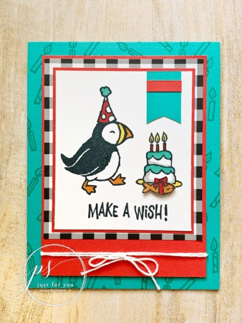 Ever partied with a puffin by Stampin' Up!?