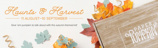 The Haunts & Harvest Paper Pumpkin kit is your treat packaging solution
